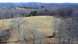 Aerial shot of a large field in Tennessee.