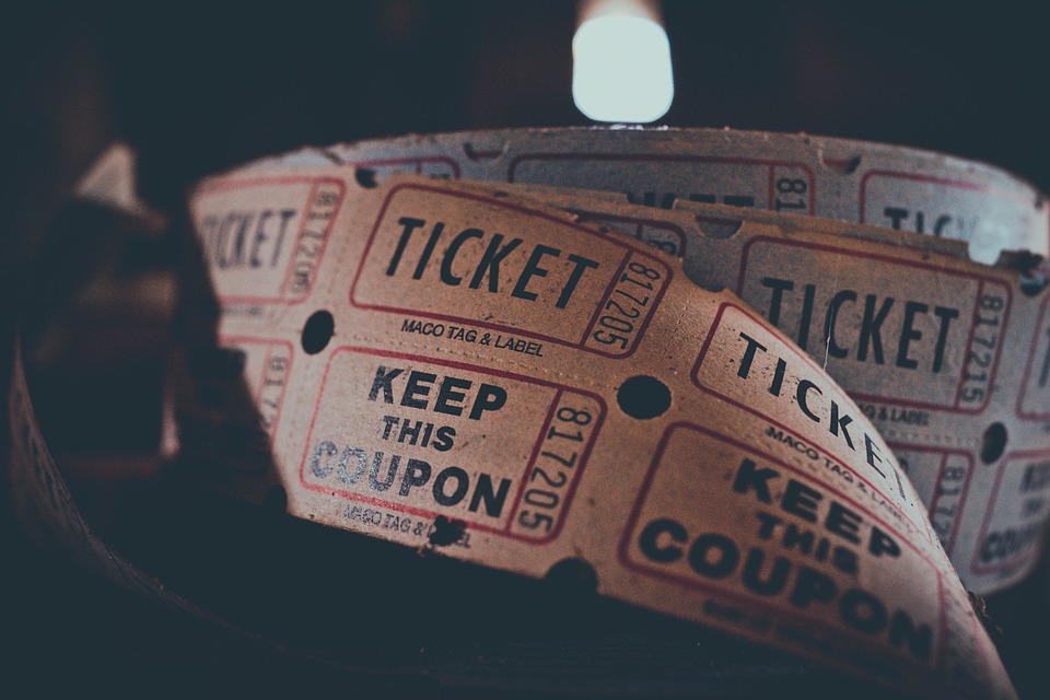 A reel of movie tickets.
