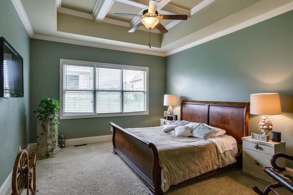 bedroom of an autumn ridge home