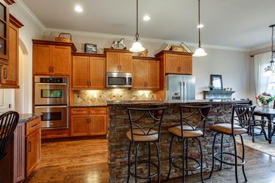 a beautiful gourmet kitchen